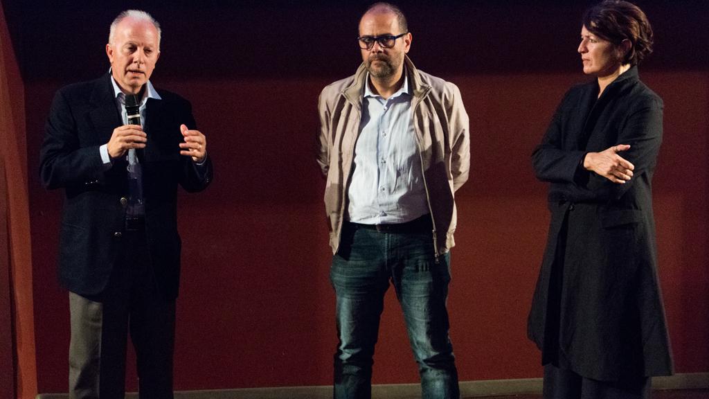 Giuseppe Mistretta, dirigente e amministratore di BikeMe, e Marco Granelli, Assessore alla mobilità del Comune di Milano © Chiara Fusar Bassini