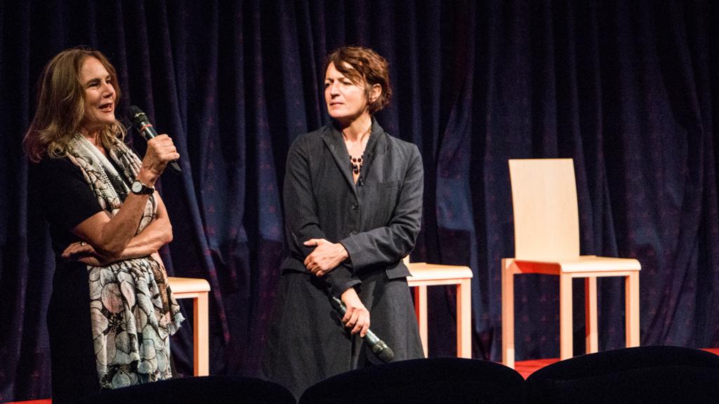 La regista Michela Moro con Silvia Robertazzi © Chiara Fusar Bassini