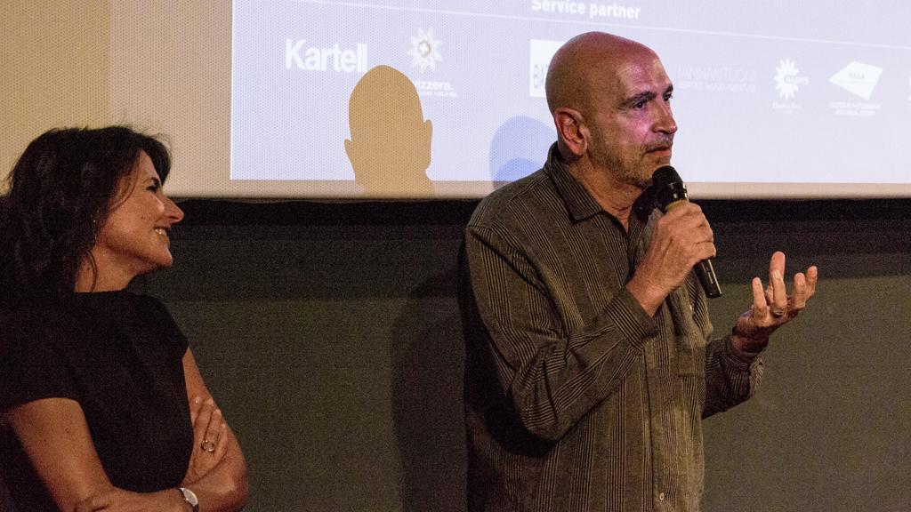 La regista Ester Pirotta con il fotografo Tom Vack © Francesca Ciuffreda