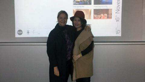 Antonella Dedini, cofondatrice e co-curatrice di MDFF con Mi Lan Yo, designer coreana e studentessa della KMU Kookmin University