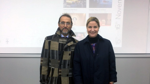 Antonella Dedini, cofondatrice e co-curatrice di MDFF con Angelo Gioé, direttore dell'Istituto Italiano di Cultura a Seoul