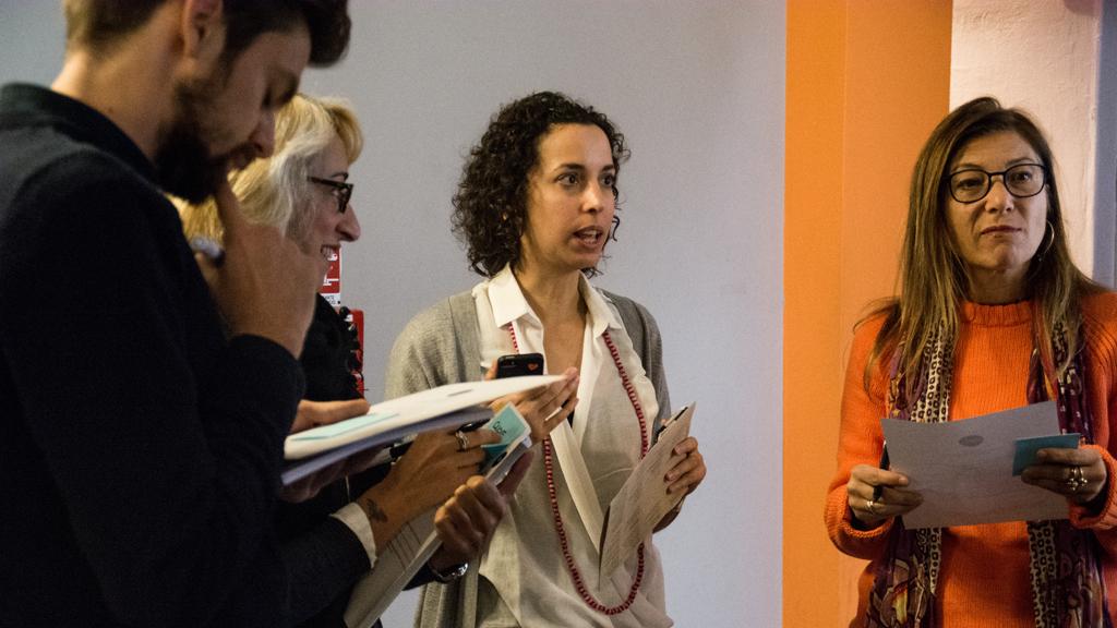 Alice Buoli spiega la metofologia ADAPT-r ITN durante il workshop al MDFF il giorno 8 Ottobre @ Samatha Calligaris